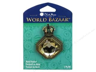 Licensed Products Blue Moon World Bazaar: Blue Moon Beads Metal Pendant World Bazaar Lemon Citrine Acrylic Crown Diamond