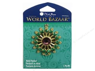 Blue Moon Beads $4 - $5: Blue Moon Beads Metal Pendant World Bazaar Gold Star with Rhinestones