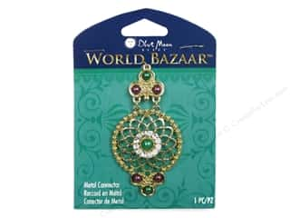 Licensed Products Blue Moon World Bazaar: Blue Moon Beads Metal Connector World Bazaar Gold Dangle with Pearls