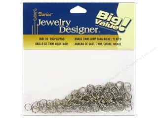Jump Rings / Spring Rings: Darice Jewelry Designer Jump Rings 7mm Nickel Plated Brass 200pc