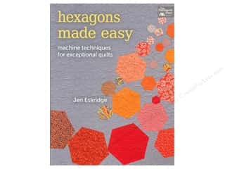Quilting Made Easy $12 - $15: That Patchwork Place Hexagons Made Easy Book by Jen Eskridge