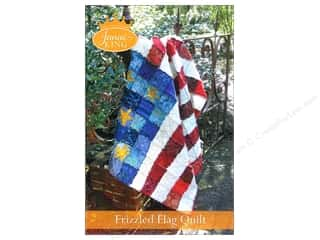 Americana Books & Patterns: Janae King Designs Frizzled Flag Quilt Pattern