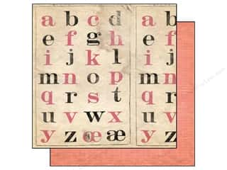 Cosmo Cricket Alphabet Stickers: Cosmo Cricket 12 x 12 in. Paper Sweet Disposition Book Smart (12 sheets)