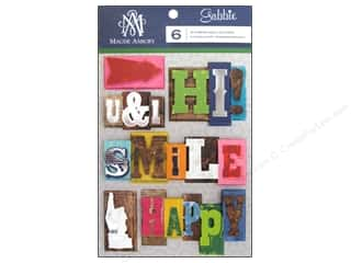 Anna Griffin 6 x 6: Blend Sticker Gabbie 3D Letterpress Words
