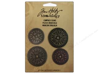 Tim Holtz inches: Tim Holtz Idea-ology Compass Coins