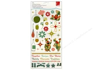 Clearance Stickers: Cosmo Cricket Sticker Cardstock TV Dinner