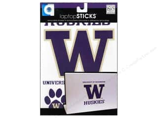 Decals Black: Me&My Big Ideas Sticker Laptop STICKS NCAA Washington Huskies