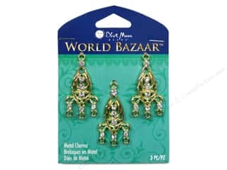 Charms Blue: Blue Moon Beads Metal Charms World Bazaar Chandelier 3pc Gold