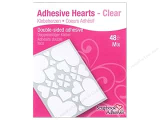 Tapes Hearts: 3L Scrapbook Adhesives Adhesive Hearts 48 pc. Clear