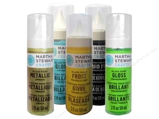 Weekly Specials Martha Stewart Stencils: Martha Stewart Glass Paint by Plaid, SALE $2.79-$21.99.