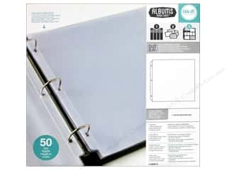 "Page Protectors American Crafts Page Protectors: We R Memory Page Protectors Albums Made Easy Ring 12""x 12"" 50pc"