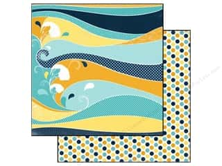 Carta Bella 12 x 12 in. Paper Beach Waves (25 piece)