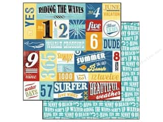 Carta Bella Paper 12x12 Beach Boardwalk Riding The Waves (25 piece)