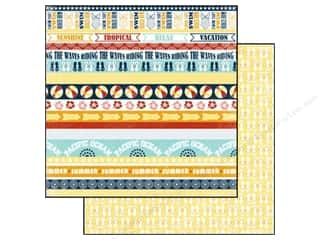 Carta Bella Paper 12x12 Beach Boardwalk Tropical Borders (25 piece)