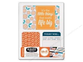 card sleeve: We R Memory Cards Albums Made Easy Journal Tangerine