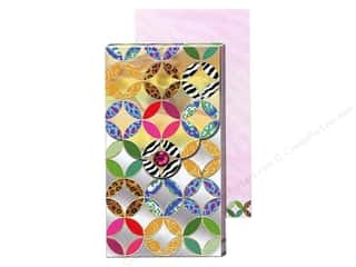 Punch Studio Pocket Note Pad Large Metallic Gold Pattern