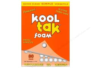 Kool Tac Glues, Adhesives & Tapes: Kool Tak 3D Foam 3/8 x 1/16 in. White 80 pc.