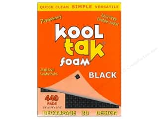 Kool Tak 3D Foam 1/4 x 1/4 x 1/16 in. Black 440 pc.
