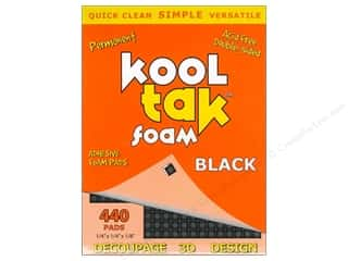 Kool Tak 3D Foam 1/4 x 1/4 x 1/8 in. Black 440 pc.