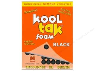 Kool Tak 3D Foam 3/8 x 1/16 in. Black 80 pc.