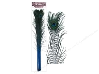 "Zucker Peacock Eyes Stem 30-40"" 10pc Dk Turquoise"