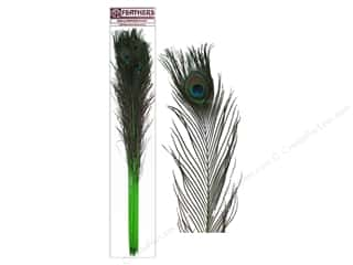 "Feathers peacock: Zucker Peacock Eyes Stem 30-40"" 10pc Lime"