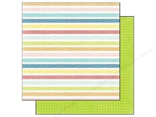 Echo Park 12 x 12 in. Paper Perfect Summer Chevron Lines (25 piece)