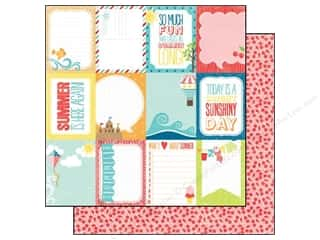 Echo Park 12 x 12 in. Paper Summer 3x4 Journaling Cards (25 piece)