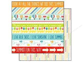 Summer Hot: Echo Park 12 x 12 in. Paper A Perfect Summer Collection Border Strips (25 pieces)