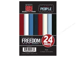 Clearance Bazzill Lickety Slip Journaling Cards: Bazzill 4 x 6 in. Multi Pack We The People 24 pc. (3 sets)