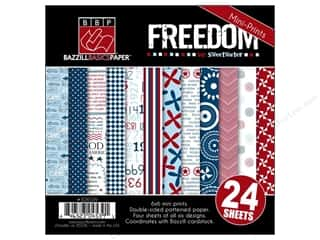 Weekly Specials Doodlebug Paper Pack: Bazzill Multi Pack 6x6 Freedom 24pc