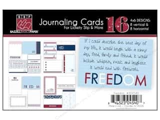 Clearance Bazzill Lickety Slip Journaling Cards: Bazzill Lickety Slip Journaling Cards 4 x 6 in. Freedom 16 pc.