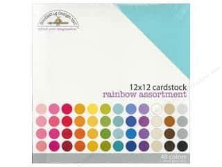 Doodlebug Cream/Natural: Doodlebug 12 x 12 in. Cardstock Pack Textured Rainbow