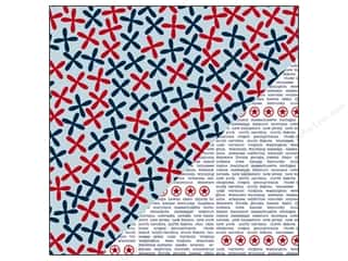 Clearance Blumenthal Favorite Findings: Bazzill 12 x 12 in. Paper Yankee Doodle/The States 25 pc.