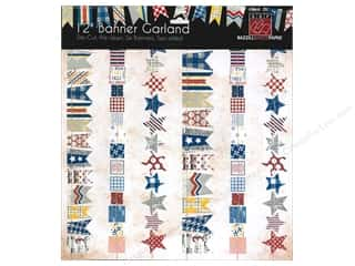 Clearance Blumenthal Favorite Findings: Bazzill Die-Cut Garland Banners 6 pc. Freedom