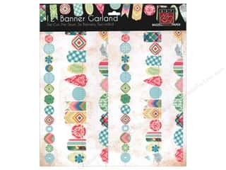 Gingham Girls Flowers: Bazzill Die-Cut Garland Banners 6 pc. Girl