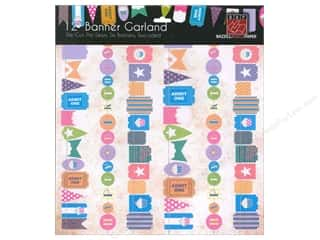 Bazzill Birthdays: Bazzill Die-Cut Garland Banners 6 pc. Happy Birthday