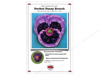 New Templates: La Todera Perfect Pansy Brooch Pattern