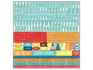 Sizzling Summer Sale 3L: Echo Park Sticker 12x12 A Perfect Summer Alphabet (15 set)