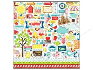 Borders Summer: Echo Park Sticker 12 x 12 in. A Perfect Summer Collection Element (15 sets)