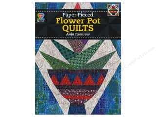 Flowers Books & Patterns: American Quilter's Society Paper-Pieced Flower Pot Quilts Book by Anja Townrow