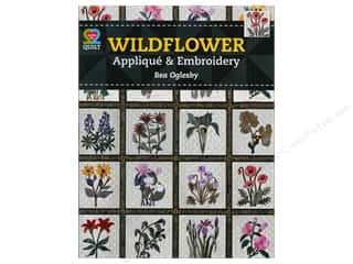 "Books & Patterns 11"": American Quilter's Society Wildflower Applique & Embroidery Book by Bea Oglesby"