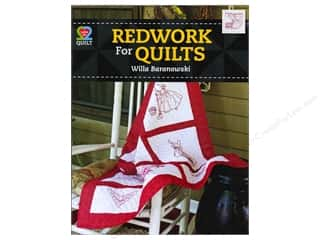 American Quilter's Society Quilting Patterns: American Quilter's Society Redwork For Quilts Book by Willa Baranowski