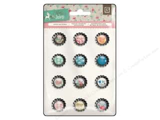 BasicGrey Bottle Cap Stickers Mint Julep