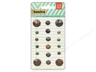 BasicGrey Sticker Basics Metal Studs Circle Brass