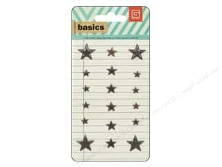 BasicGrey Metal Stud Stickers Basics Star Brass