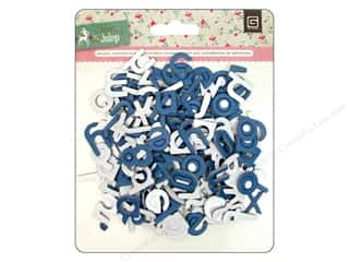 BasicGrey Chipboard Alphabet Stickers Mint Julep