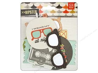 BasicGrey Sticker Chipboard Shapes Hipster