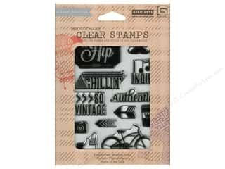 Grey: BasicGrey Clear Stamps 13 pc. Hipster You Are Hip