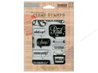 Rubber Stamping $10 - $61: BasicGrey Clear Stamps 10 pc. Hipster Awesome